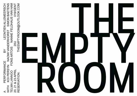 AFFICHE The Empty Room webversie